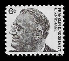 PCBstamps     US #1284a 6c F.D. Roosevelt's tagged, MNH, (10)