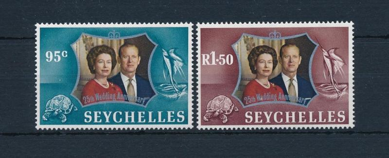 [49009] Seychelles 1972 Marine life Fish Turtle Royal wedding MNH