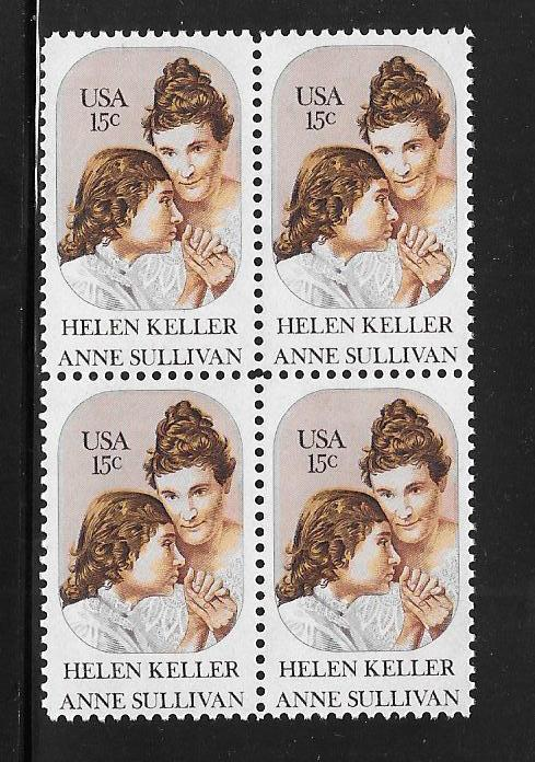 USA Sc. 1824  Helen Keller & Anne Sullivan. F.V. = $0.60 as Starting Price