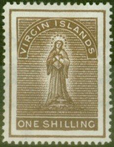 Virgin Islands 1887 1s Dp Brown SG41 Fine Lightly Mtd Mint