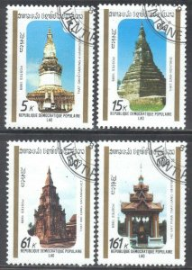 LAOS SCOTT #955-58 **USED** 1989  HISTORIC MONUMENTS SEE SCAN