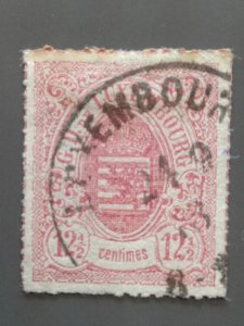 Luxembourg 20 VF used. Scott $ 8.00