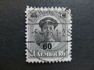 A4P27F89 Letzebuerg Luxembourg 1925-28 surch 60c on 80c used