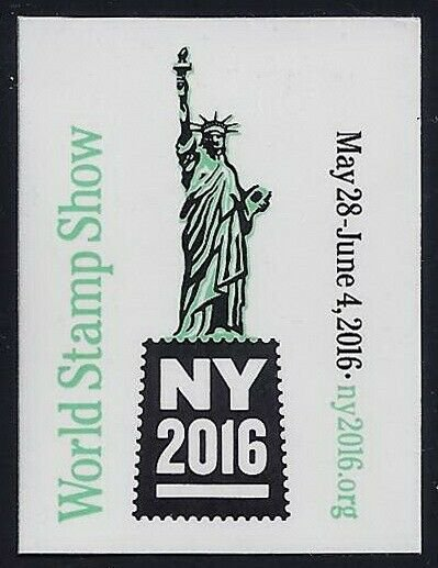 2016 New York World Stamp Show Cinderella Poster Stamp / Label Mint NH