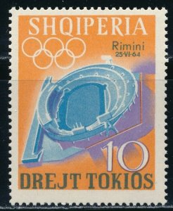 Albania - Tokyo Olympic Games MNH Overprinted Sports Stamp (1964)