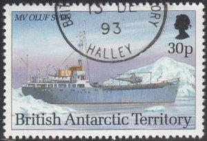 British Antarctic Territory 1993 used Sc #209 30p MV Oluf Sven Research Ships