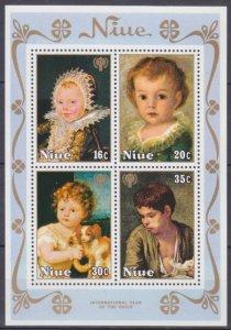 1979 Niue 238-241/B15 Children in painting