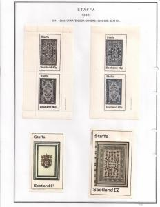SCOTLAND - STAFFA - 1982 - Book Covers #2 - Perf, Imp 2v, Souv, D/L Sheets - MLH