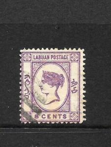 LABUAN  1892-93  8c  QV  FU  SG 41