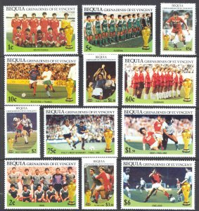 St. Vincent Grenadines Bequia Sc# 218-229 MNH 1986 World Cup Soccer