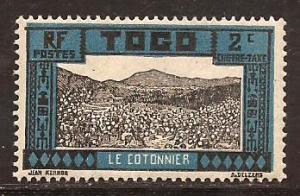 Togo  #  J - 9  Mint