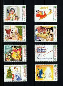 ST VINCENT - 1991 - DISNEY - MICKEY - CHRISTMAS CARD - CINDERELLA - 8 X MNH SET!
