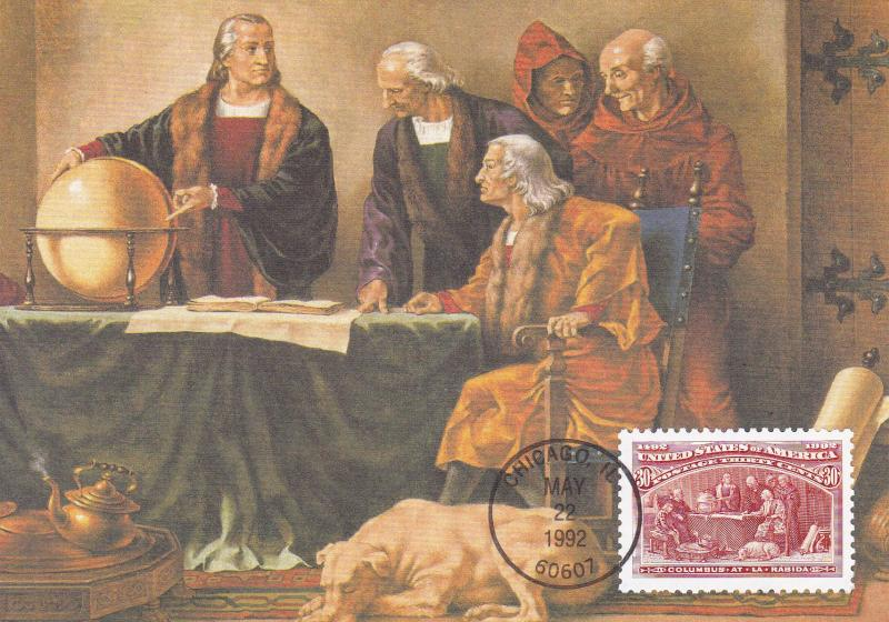United States 1992 Christopher Columbus Discovery of America (16) Maximum Cards