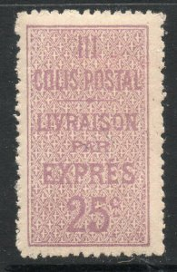 Algeria: 1912 25c. Railway Parcel stamp My. 6 mint
