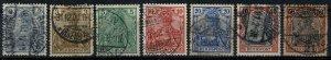 GERMANY 1899-1900 REICHSPOST 2pf-50pf PART SET SG52-60 USED (VFU) XF/SUPERB