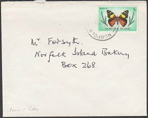 NORFOLK IS 1978 1c local rate cover - 1c Butterfly..........................M630