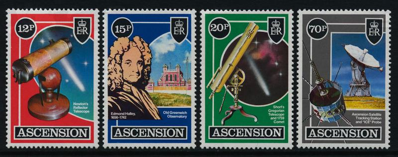 Ascension Island 385-8 MNH Helley's Comet, Satellite, Telescope