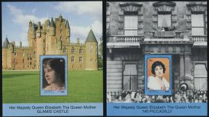 St Vincent Grenadines 741-8 MNH Queen Mother 90th Birthday, Castle, Palace