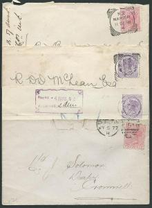 NEW ZEALAND 1877-93 4 various covers - mixed condition.....................42913