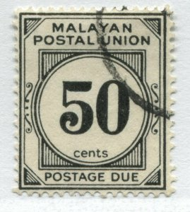 Federated Malay States 1936 50 cents Postage Due used