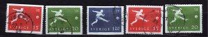 J23040 JLstamps 1958 sweden set used #524-8 sports