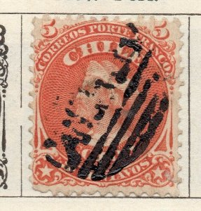 Chile 1867 Early Issue Fine Used 1c. NW-11394