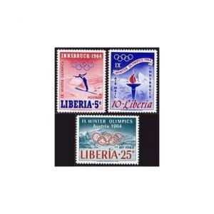 Liberia 413,C157-C159,MNH.Michel 612-614,Bl.28. Olympics Innsbruck-1964.Ski.
