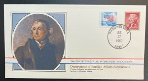 US #2278,1033 On Cover - Bicentennial of Constitution 1787-1987 [BIC69]