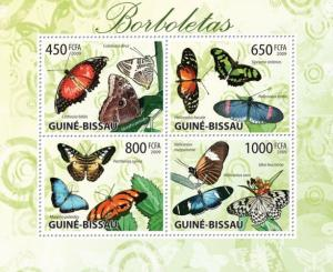 GUINEA BISSAU 2009 SHEET BUTTERFLIES INSECTS