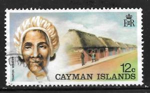 Cayman Islands 350: 12c Thatch Weaver, used, VF