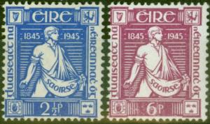 Ireland 1945 Thomas Davis set of 2 SG136-137 V.F MNH