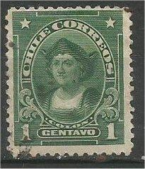 CHILE, 1911, used 1c, Columbus, Scott 98