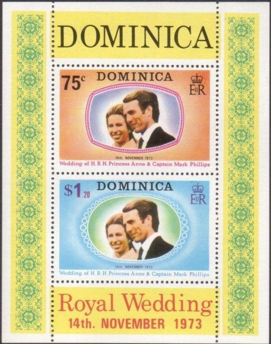 Dominica 1973 SGMS396 Royal Wedding MS MNH