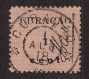 Netherlands Antilles  Curacao  #73   used  1918   15c  HAW