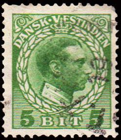 Danish West Indies Scott 53 Used.