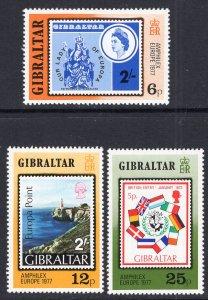 Gibraltar 356-358 Stamp on Stamp MNH VF