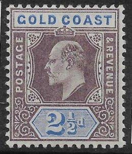 GOLD COAST SG52 1906 2½d DULL-PURPLE & ULTRAMARINE MTD MINT
