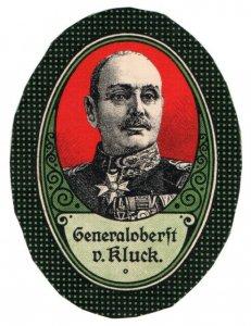 (I.B-CK) Germany (Great War) Cinderella : General Alexander von Kluck