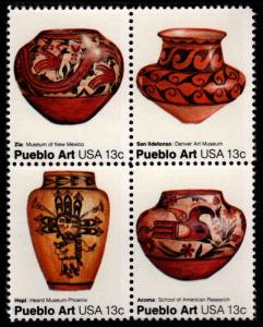 USA Scott 1706-1709a MNH** Pueblo Pottery block