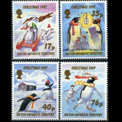 BR.ANTARCTIC TERR. 1997 - Scott# 249-52 Xmas Set of 4 NH