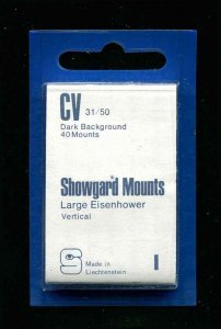 Showgard Black Stamp Mounts CV 31/50 PreCut  (40 count)