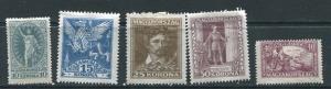 Hungary 1923 Mi 369-373 MH 7145