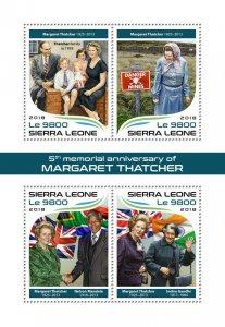 Sierra Leone Margaret Thatcher Stamps 2018 MNH Nelson Mandela People 4v M/S