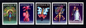 ANTIGUA - 1977 - CARNIVAL - FEATHER COSTUME - QUEEN & KING + MINT - MNH SET!