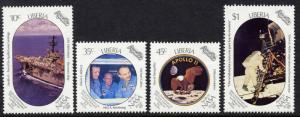 Liberia 1125-8 MNH Space, Apollo 11, Moon Landing, Rocket, Ship