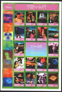 Togo. 2000. Small sheet 3057-74. Millennium, Kennedy, Mao Jie Tung, Fidel Cas...
