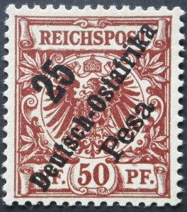 German East Africa 1896 Twenty Five Pesa Michel 10 mint