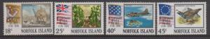 Norfolk Island 1976 American Bicentennial Set Sc#194-197 MNH