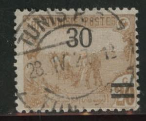 Tunis Tunisia Scott 72 surcharged 1925 issue used