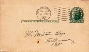 United States, Government Postal Card, District of Columbia